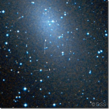 NGC 147 South region  Hodge I, II & III DSS2 Whisky