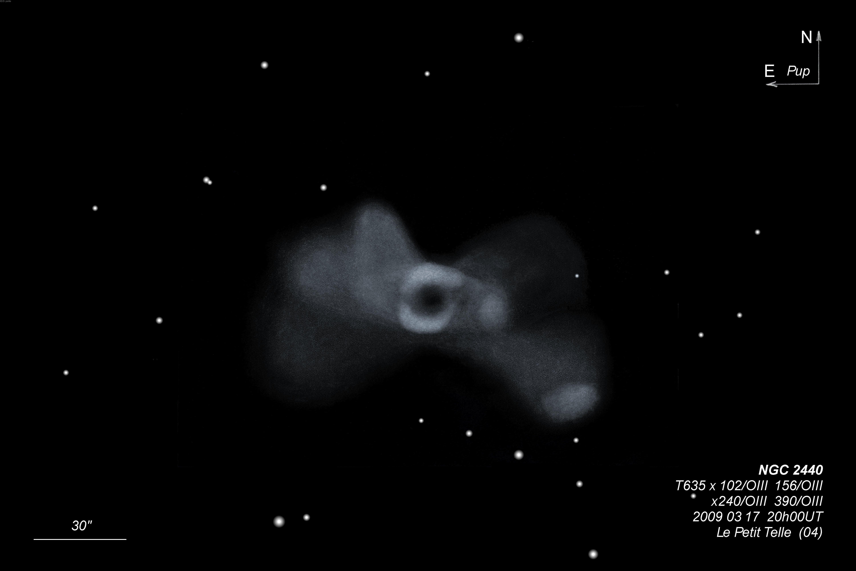 NGC 2440 Planetary Nebula in Puppis   ShahGazer Astrophotography