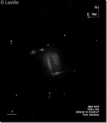 NGC 1313  T500  BL  2006 09  Namibie Tivoli