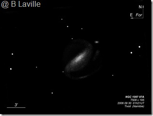 NGC 1097 97A  T500  BL 2006 09  Namibie Tivoli