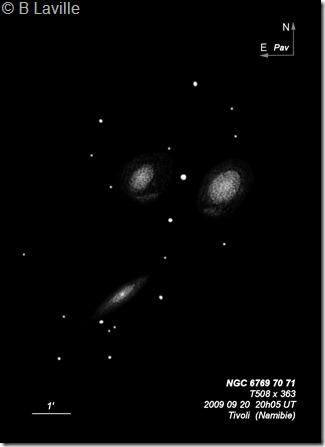 NGC 6769 70 71  T500  BL  2006 09 Namibie Tivoli