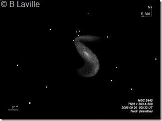 NGC 2442  T500 BL Namibie 2006