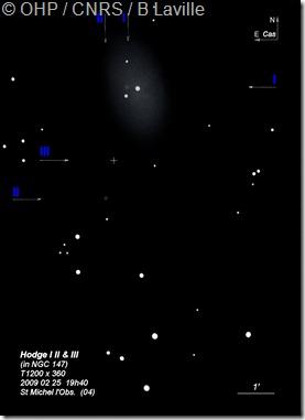 NGC 147  Hodge I  II  III  T1200  BL