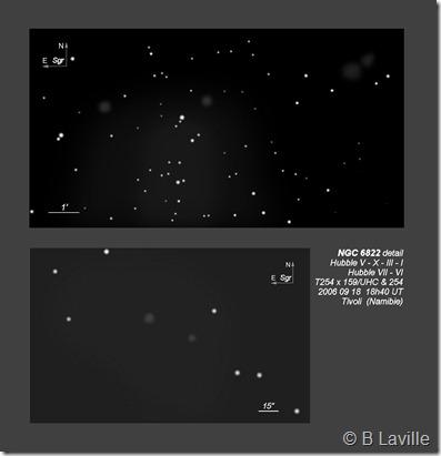 NGC 6822  Hubble I III V VI VII X  BL 2006 09 18