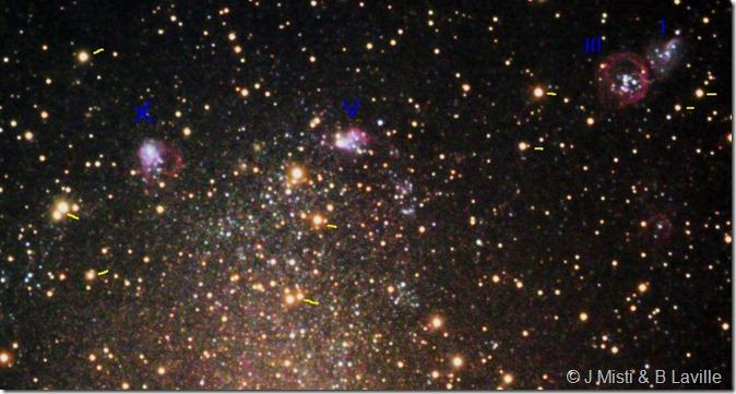 NGC 6822 J Misti 050712  labels Nord