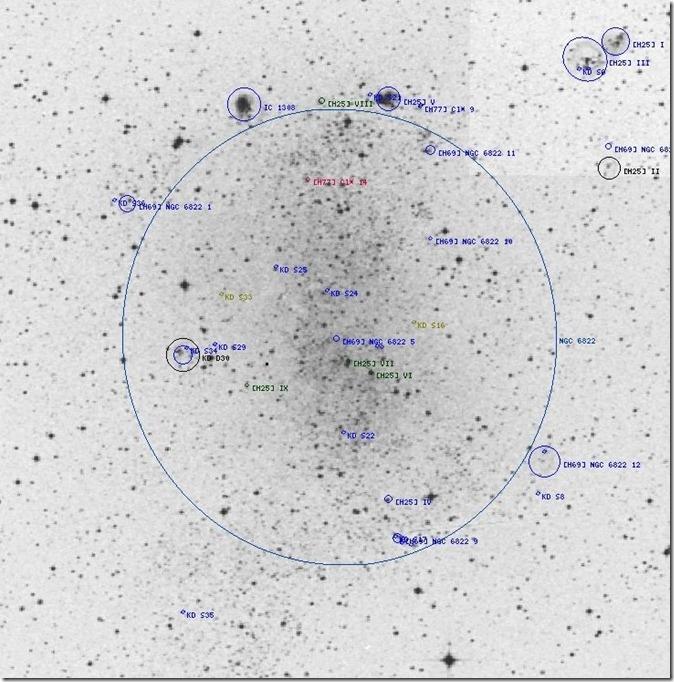 NGC 6822 chart Steine