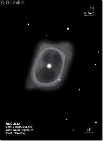NGC 3132  T508  BL  Tivoli Namibie