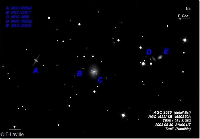 NGC 4622A&B 50&50A  T508  BL Namibie Tivoli labels