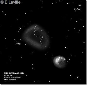 NGC 2074 81  T500  BL  2006 09  Tivoli Namibie_2