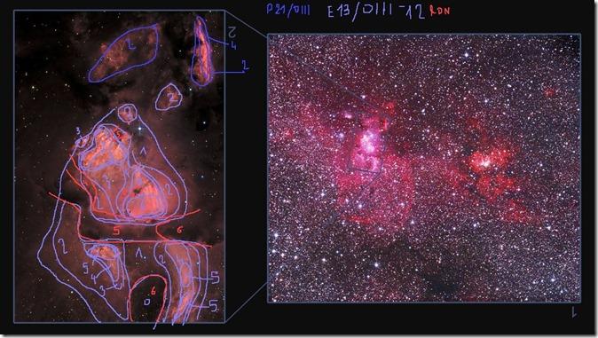 NGC 3576 detail Sparenberg