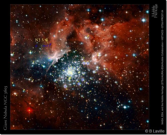 NGC 3603 Hst