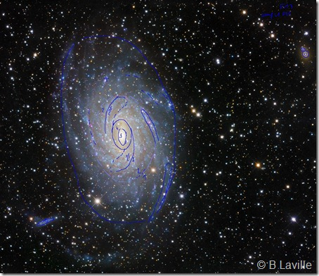 NGC 6744 R Gendler & isophotes