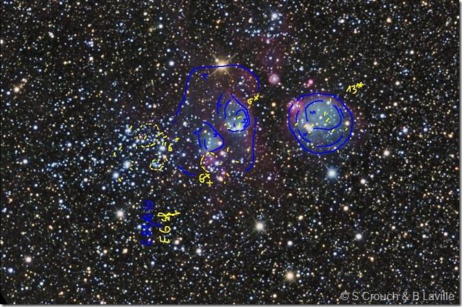 Hen 83 84 85  NGC 456 460 465 Steve C