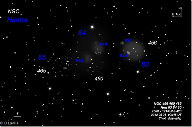 Hen 83 84 85  NGC 456 460 465  T508  BL 2012 06 25 labels