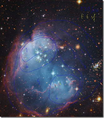 NGC 602 HST-Gendler isophotes