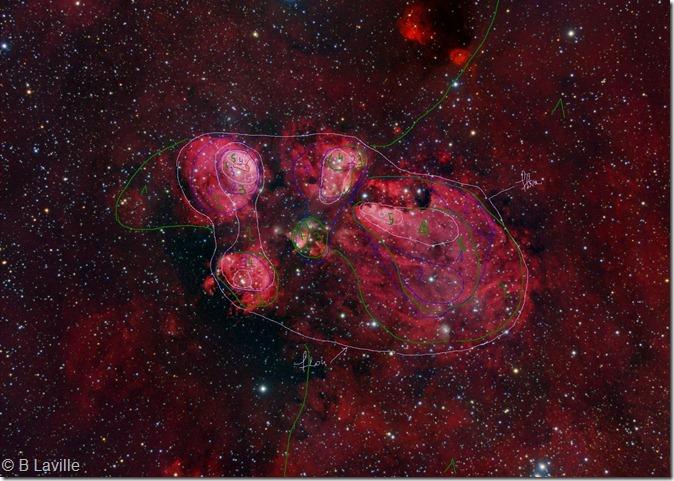 NGC 6334 M Pugh R Gendler isophotes
