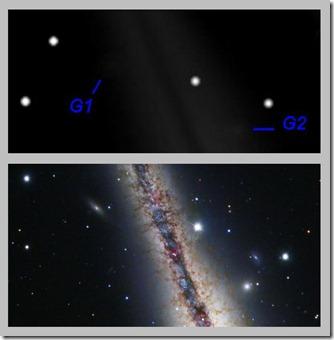 NGC 891 BL 2012 11 14 & HST Subaru