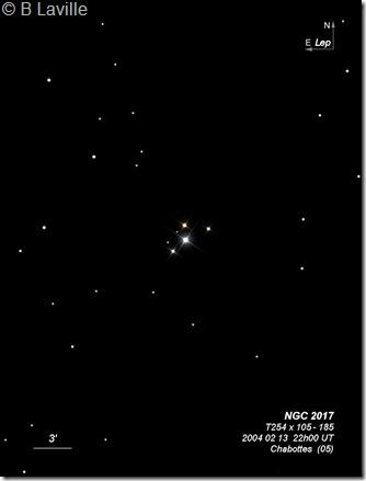 NGC 2017  T254  BL 2004 02 13