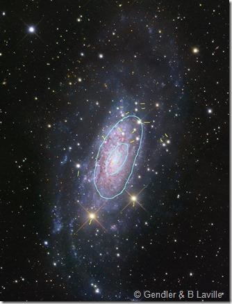 NGC 3621 Gendler & isophotes