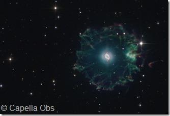 NGC 6543 52  IC 4677 Capella obs