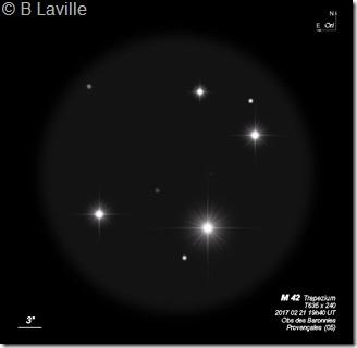 M 42 centre  T635  BL 2017 02 21 Trapezium