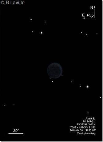 Abell 23  PN G249.3-05.4  T508  BL Tivoli