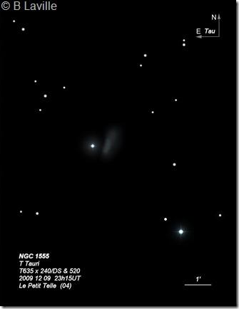 NGC 1555  T Tauri  T635  BL 2009 12 09