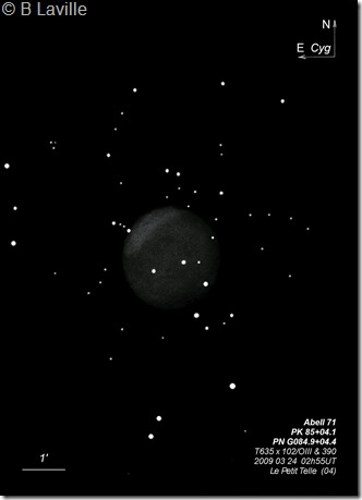 Abell 71  PK 85 04.1  T635  BL