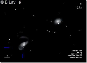 NGC 4291 4319  MK 205  T635  BL  2008 04 05