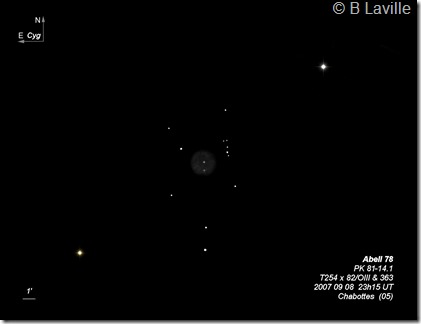 Abell 78 T254  BL 2007 09 08