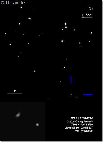 IRAS 17150-3224  Cotton Candy Nebula  T508  BL Namibie Tivoli
