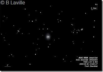 NGC 4622A&B 50&50A  T508  BL Namibie Tivoli