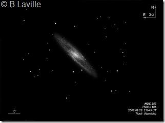 NGC 253  T500  BL  2006 09  Namibie Tivoli