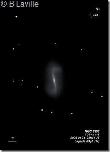 NGC 2903  T254  BL 2003 01 24