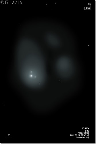 IC 4604 B 42 Rho Oph  T254  BL 2002 06 14