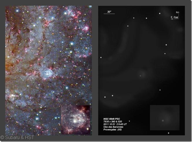 NGC 6946 Subaru HST BL T635