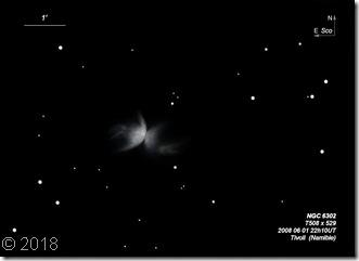 NGC 6302  T508  BL Tivoli Namibie 2008