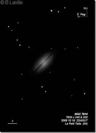 NGC 7814  T635  BL 2009 10 18