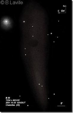 IC 434  B 33  NGC 2023  T254x45  BL  2001 10 24 UHC