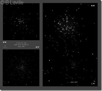 M 36 37 38  NGC 1907 BL T115 1999