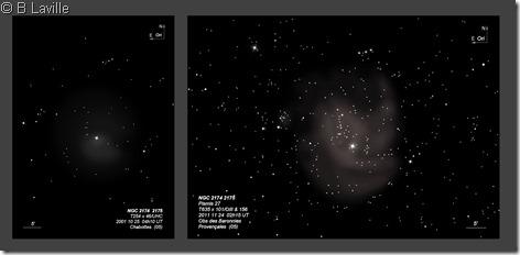 NGC 2174 2175  T254 vs T635 BL