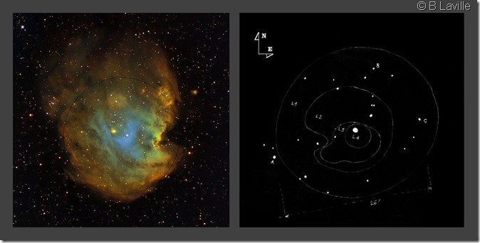 NGC 2174  T254 vs Outters