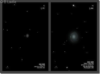 NGC 2985  T254 vs T635