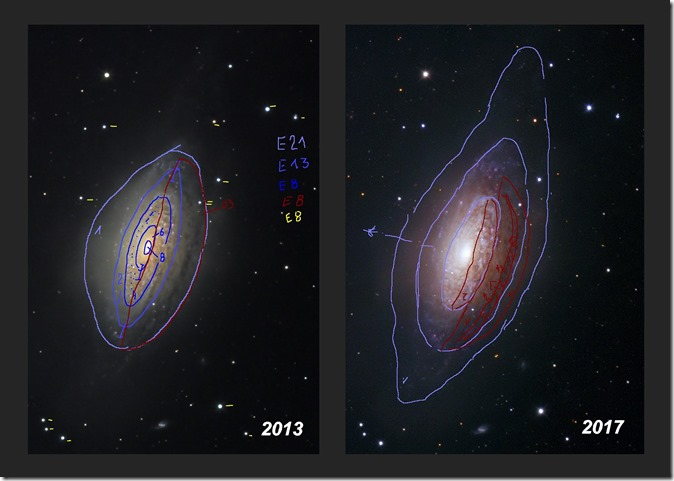 NGC 3521  T635  BL halos 2013 vs 2017