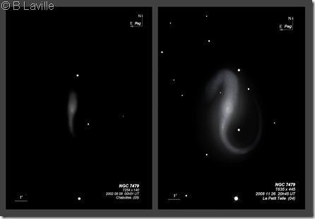 NGC 7479  T254 vs T635 BL