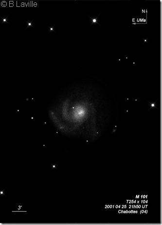 M 101  T254  BLa 2001 04 25