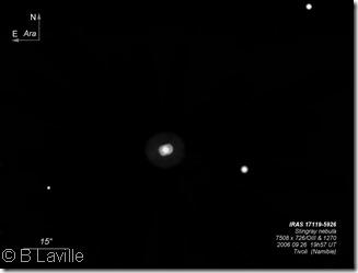 Hen 1357 Stingray nebula  T500  BL  2006 09  Namibie
