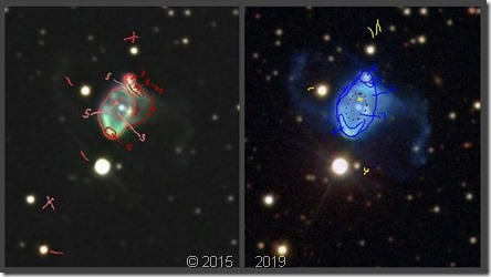 NGC 6309  T635 BL 2015 vs 2019 sketches