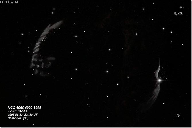 Dentelles  NGC 6960 92 95  T254  BL 1998 08 23