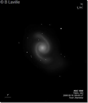 NGC 1566  T500  BL 2006 09 Namibie Tivoli